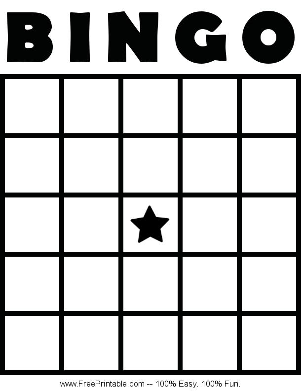 Customize Your Free Printable Blank Bingo Card Bingo Card Template Blank Bingo Cards Custom Bingo Cards