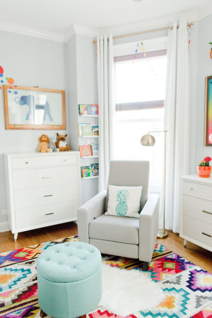 A Colorful Twin Nursery Inspired By