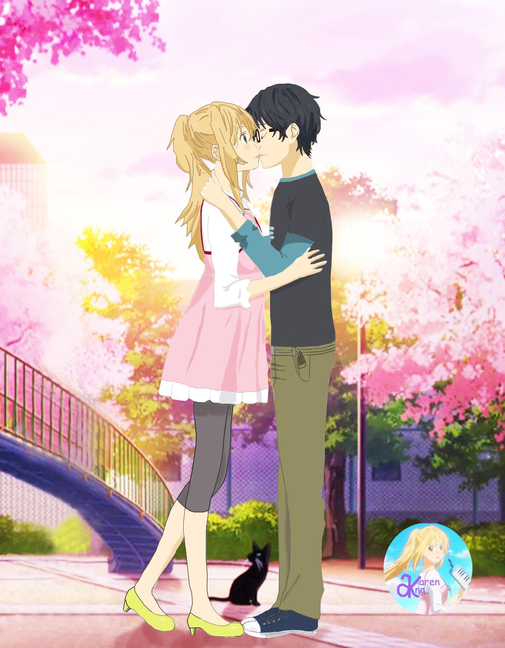 Your Lie in April. Kaori and Kousei anime Pinterest
