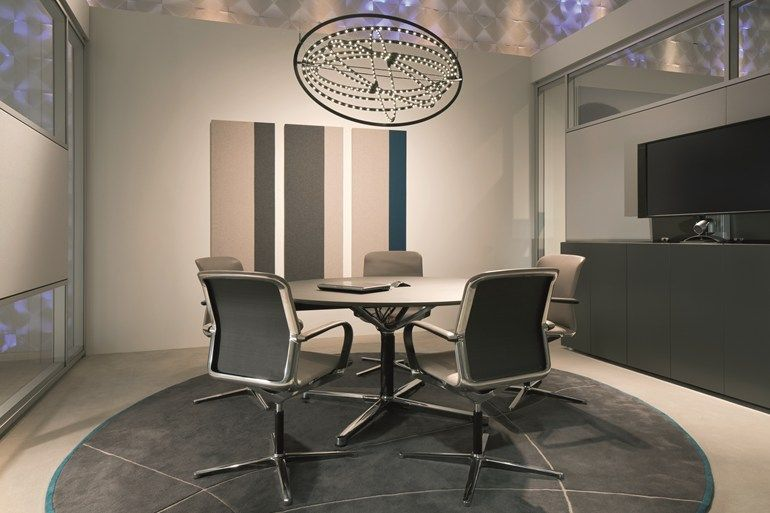 Round Meeting Table Filo 4 Star Table By Bene Design Eoos Meeting Table Table Office Interior Design