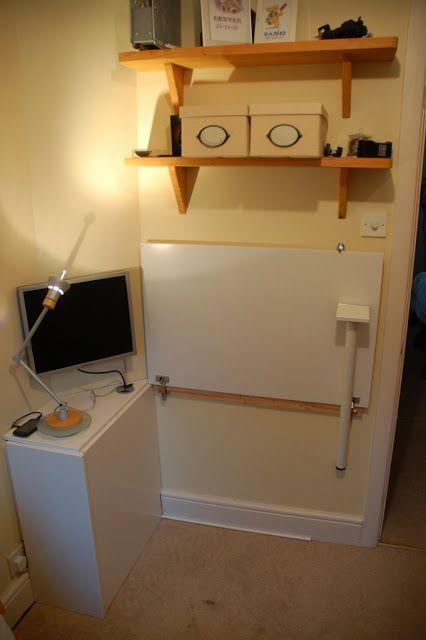 cupboard door folding desk favorite places spaces pinterest rh pinterest co uk folding desk ikea uk fold down desk ikea