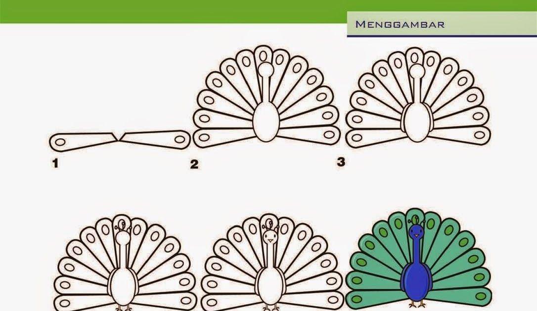 Cara Gambar Hewan Burung Merak Kerajinan Anak Menggambar Merak Cupidocreativeblog Cara Menggambar Burung Merak Dan P Cara Menggambar Gambar Gambar Hewan