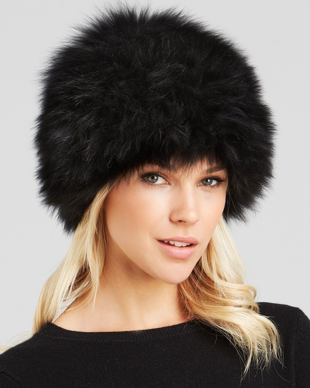 fcd36753b11bca Surell Fox Fur Knit Bubble Hat | Bloomingdale's | Mink and such ...