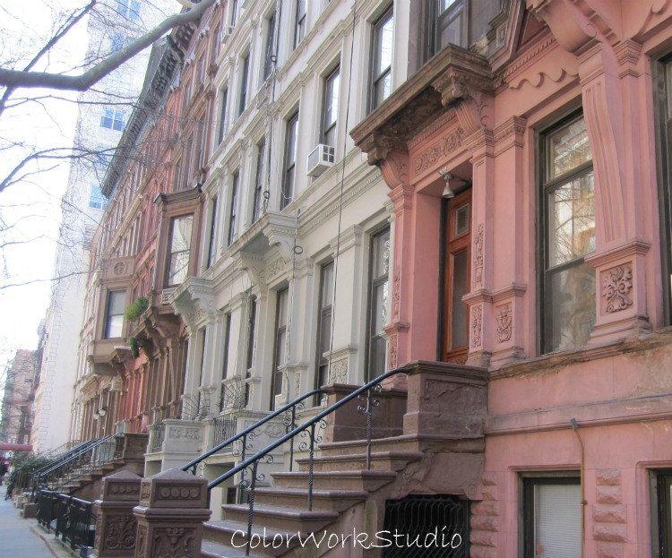 NYC Photo Brownstones III 8 x 10 Photo Upper West Side New York City apartment boho architecture charming neighborhood. $25.00, via Etsy.