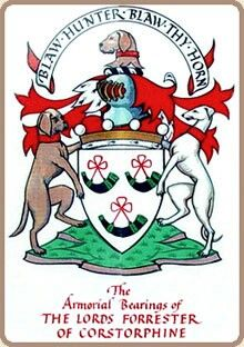 My family crest- I have always wanted it as a tattoo. Only now, I would alter it by making Mack and Winnie the dogs on the sides.