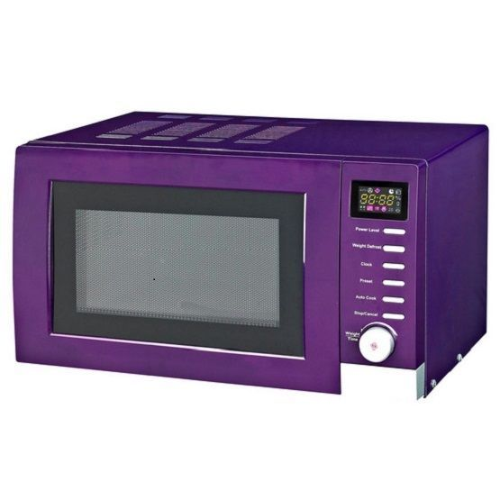 Purple Microwave Oven: Spectrum Purple Microwave Oven 700W Digital Micro Wave Plum
