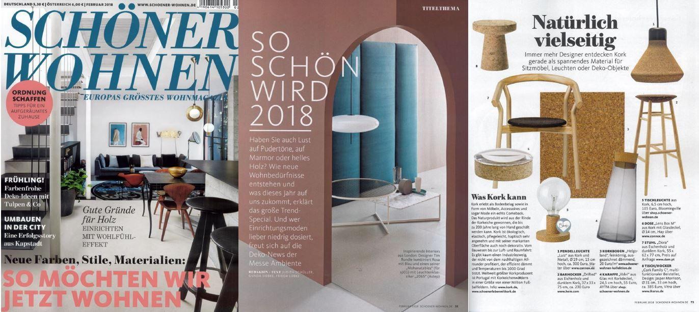 Aytms Moles And Volvi Carafe Featured In Schöner Wohnen! Februar