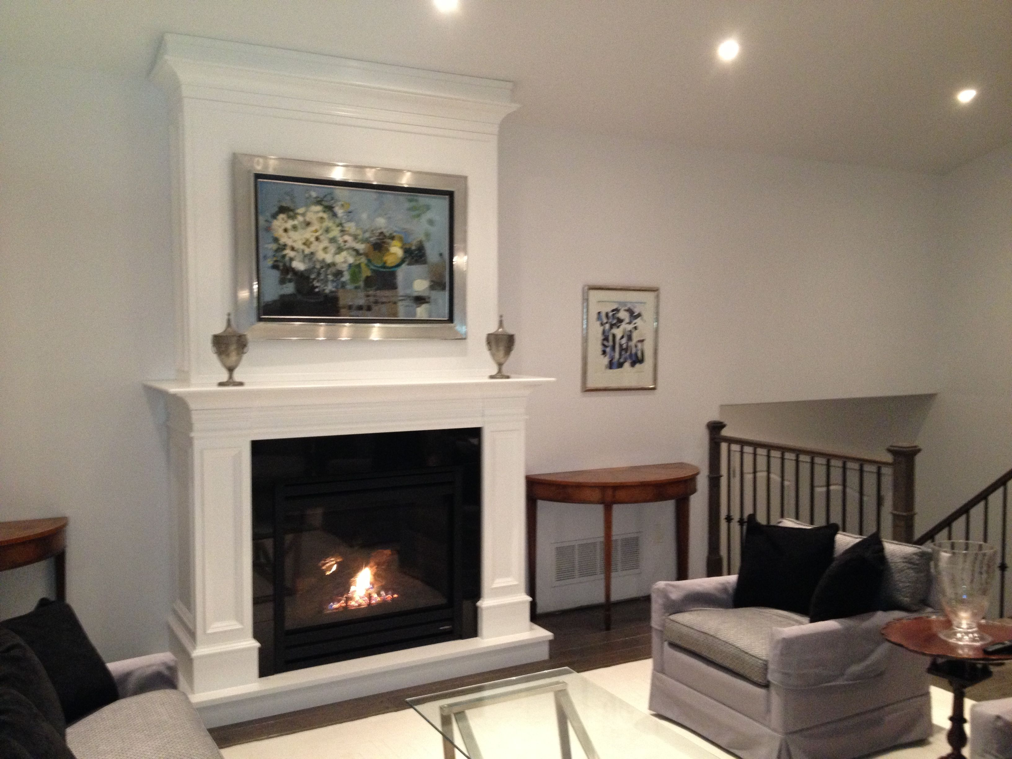 Heat N Glo Gas Fireplace Custom Cabinet And Heat N Glo Slimline 550 Gas Fireplace