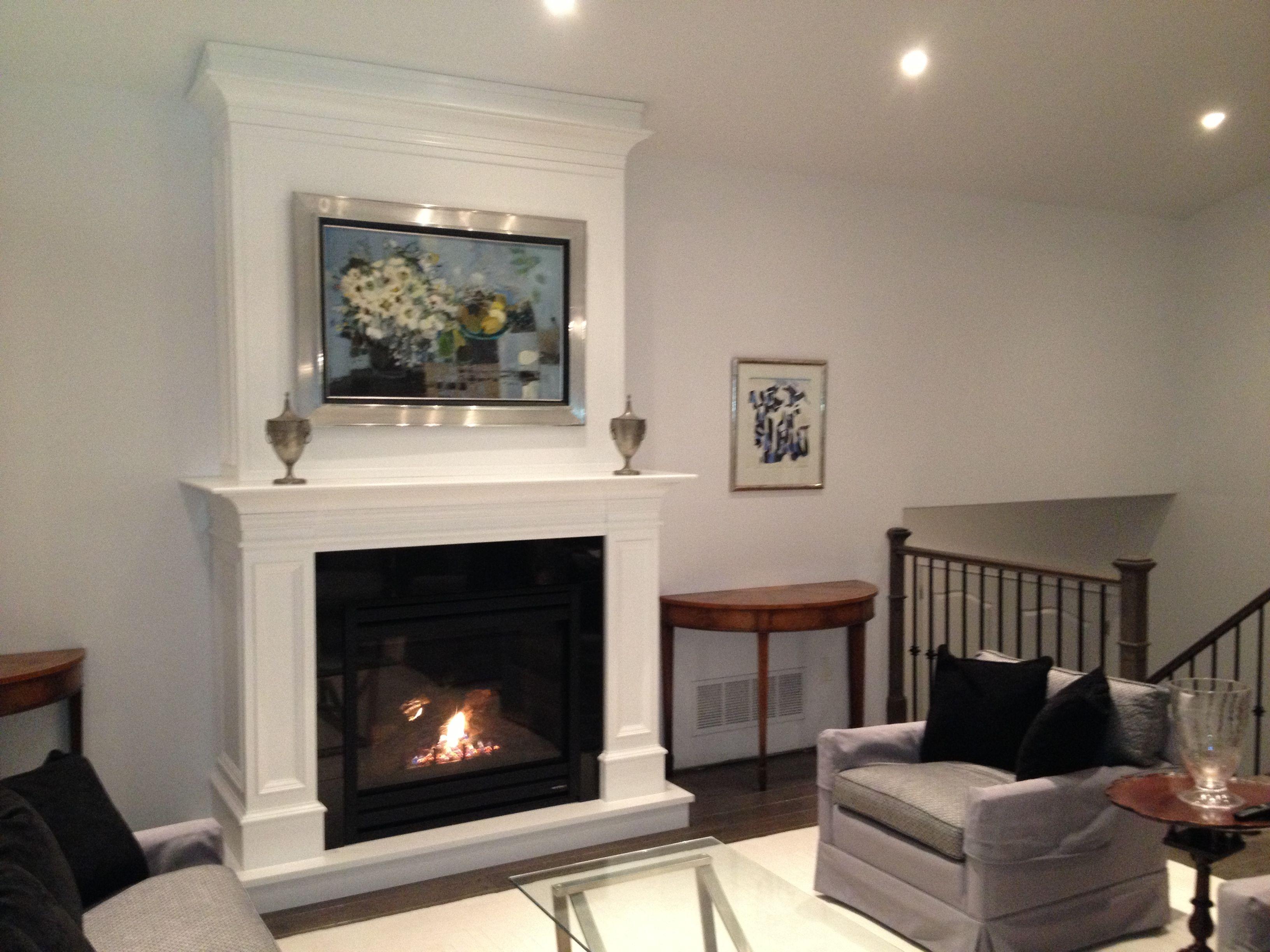 Custom Cabinet And Heat N Glo Slimline 550 Gas Fireplace Living