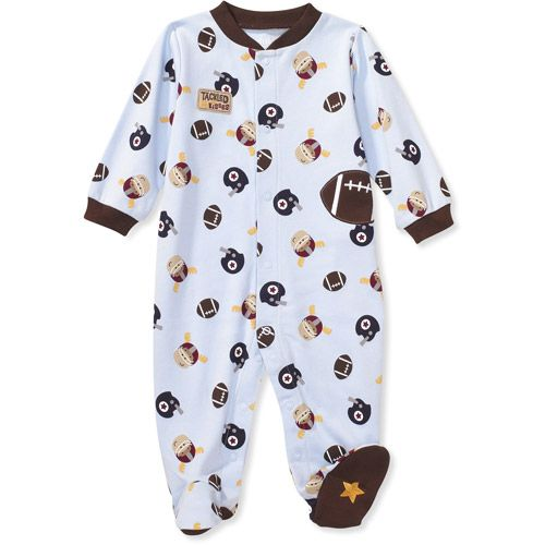 e9f685b1e Newborn Baby Boy Sleepers | ... Mine by Carter's - Newborn Boys' Sleeper:  Baby Clothing : Walmart.com
