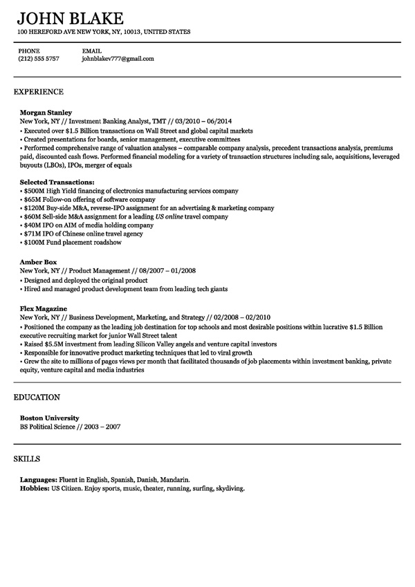 Online Resume Maker Free For Experienced