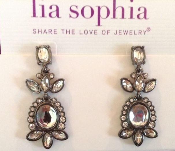 Lia Sophia BLACK SWAN Earrings - NEW ... I couldn't find the earrings from the Estate pattern  :(