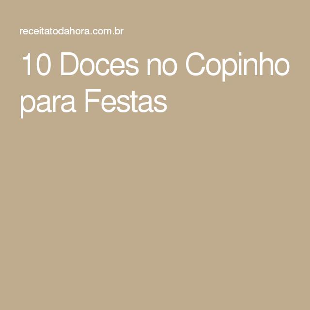10 Doces no Copinho para Festas