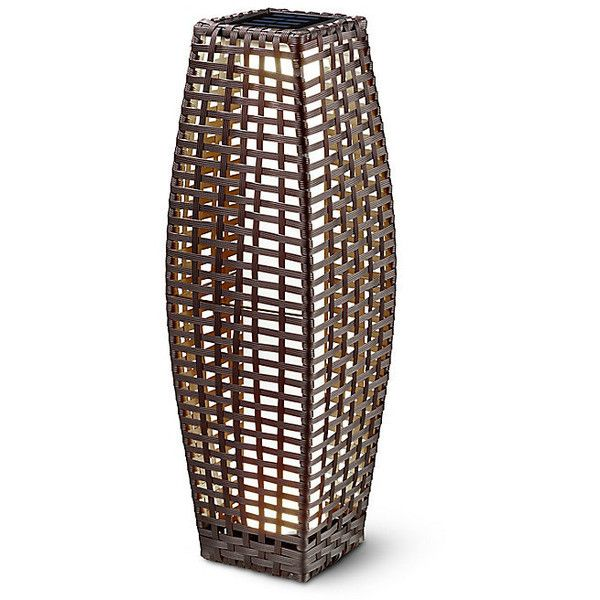 Improvements Wicker Solar Lantern Large ($50) ❤ Liked On Polyvore Featuring  Home,