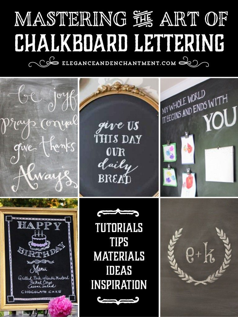 Mastering The Art Of Chalkboard Lettering From Elegance