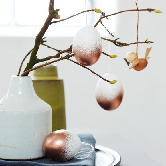 Ostereier gestalten dekorieren diy ostern eier ostern und ostereier - Kupferspray deko ...