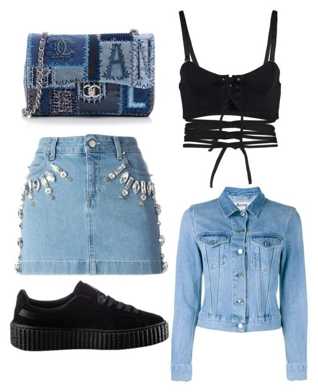 Untitled #772 by daniellexoxo196 on Polyvore featuring polyvore, fashion, style, Acne Studios, Puma, Emanuel Ungaro, Chanel and clothing