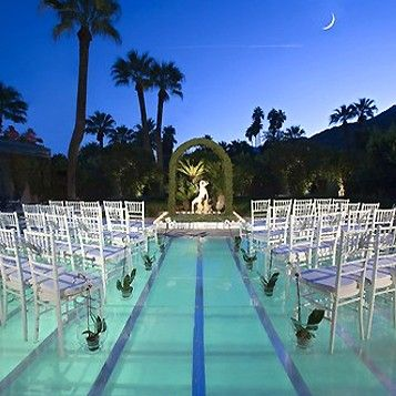 Glass Scaffolding On Top Of Swimming Pool Backyard Wedding Pool Pool Wedding Outdoor Wedding