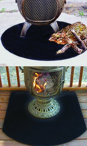 Firepitsoutdoorheaters Com Chiminea Fire Pit Deck Protector Deck Fire Pit