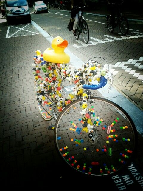Rubber ducky cycling it out