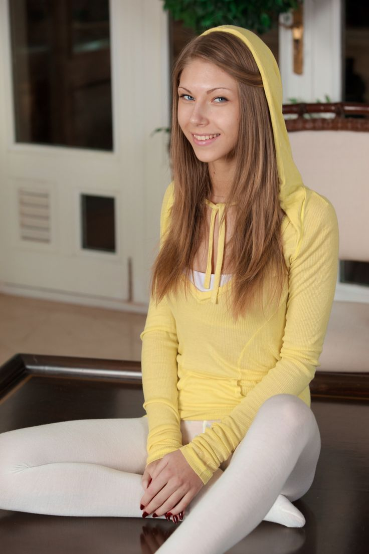 Anjelica Ebbi Looking Innocent In A Yellow Hoodie