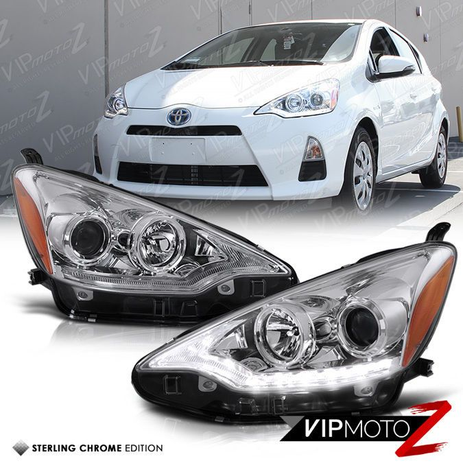 2012 2014 Toyota Prius Crystal Clear Projector Headlight W Daytime