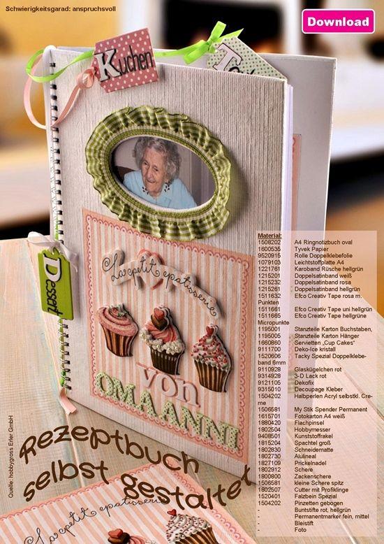 bastelidee rezeptbuch selbst gestaltet kochbuch selber machen b cher basteln und kochbuch. Black Bedroom Furniture Sets. Home Design Ideas