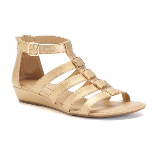 32f581ded467 Croft   Barrow® Women s Wedge Gladiator Sandals