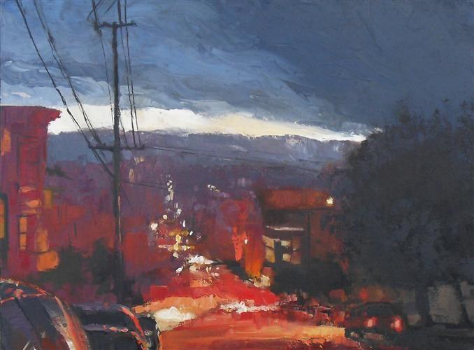 """SF Dusk"" by Trevor Smith. My walk home each night."