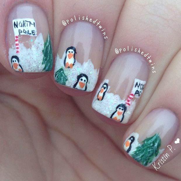 31 Cute Winter-Inspired Nail Art Designs   Pinterest   Winter ...