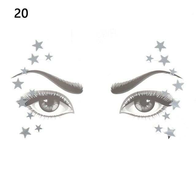 9492876441 Glitter Face Jewels Temporary Tattoo Sticker Body Gems Gypsy ...