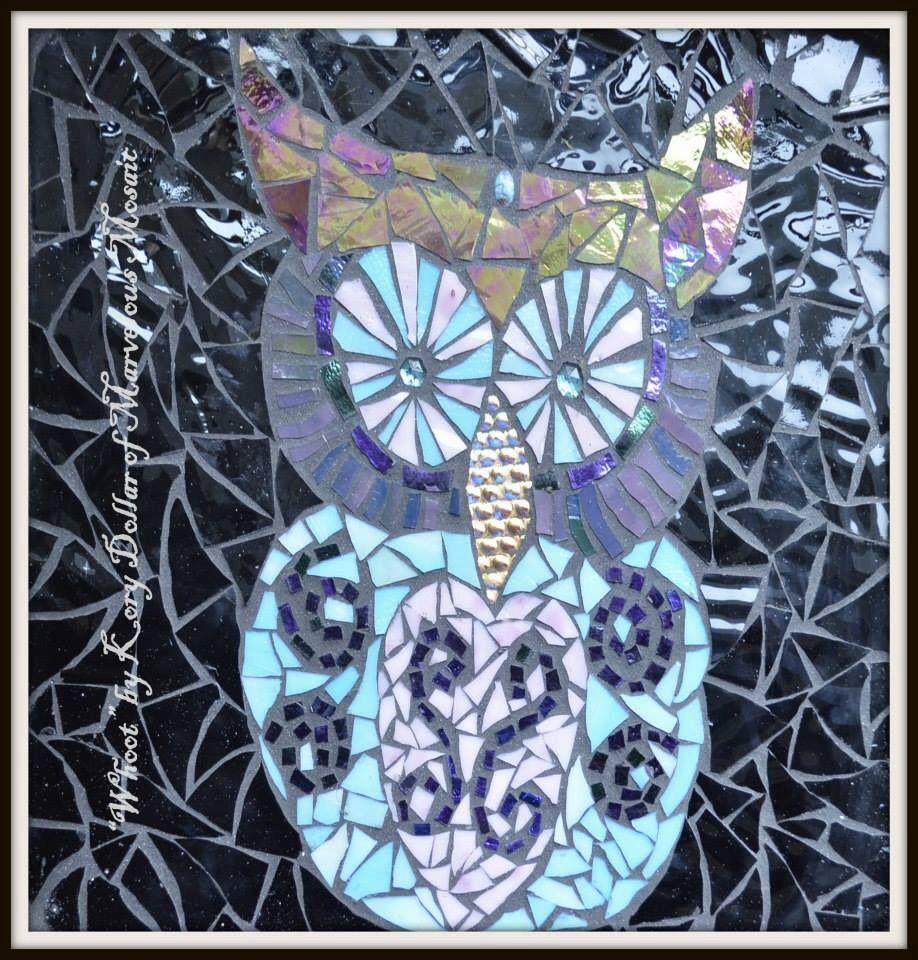 Kory dollar mosaic window mosaic owl pdx artist