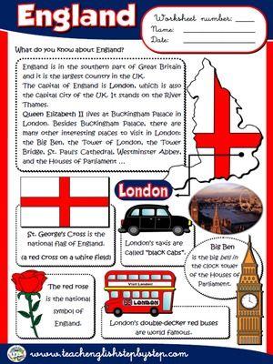 England - Worksheet