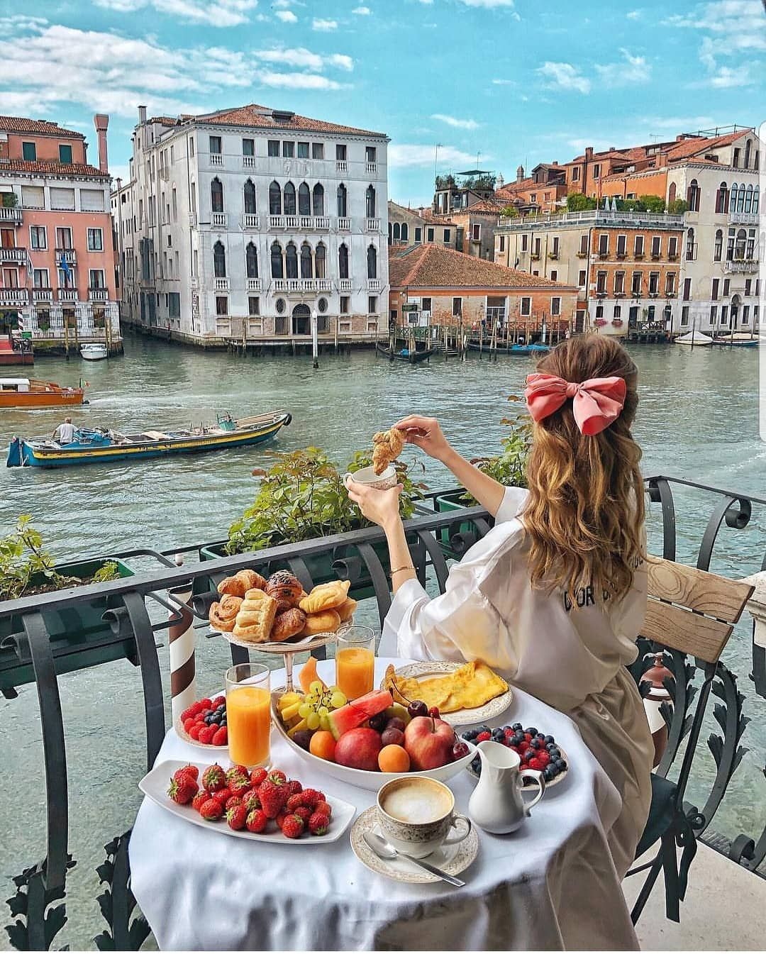 Breakfast With A View Venice Italy Hotel Palazzo Barbarigo