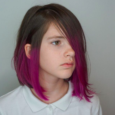 Dip Dye Dip Dye Hair Short Dipped Hair Kids Hair Color