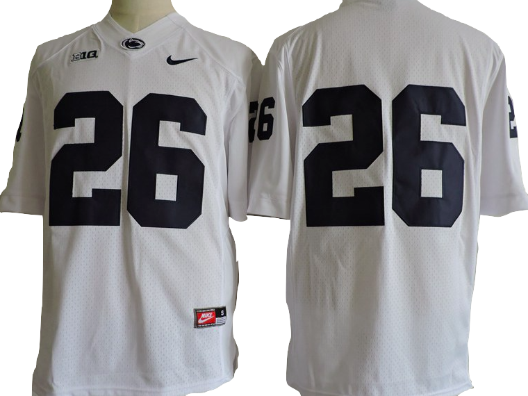 sports shoes 84830 21f7f Penn State Nittany Lions Jersey - Saquon Barkley White ...
