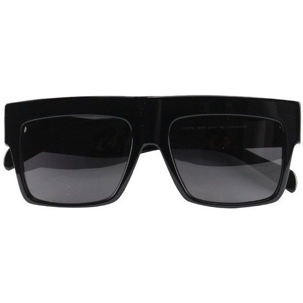 5bdaf717a5 Celine Geo Square POLARIZED cl41756zz top Black Kim Kardashian... ❤ liked  on Polyvore featuring accessories