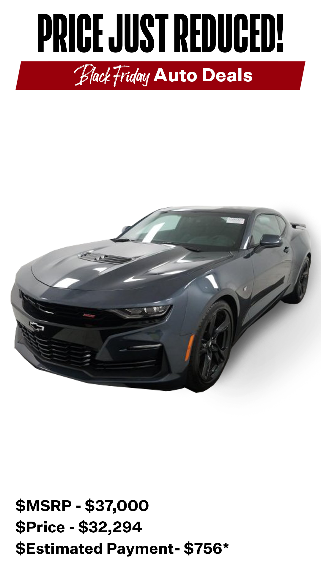 Chevy Camaro 1SS may be over but is here!  Don't miss out on these awesome deals!