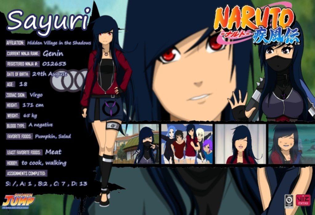 Sayuri Namine Shura Profil Naruto shippuden characters