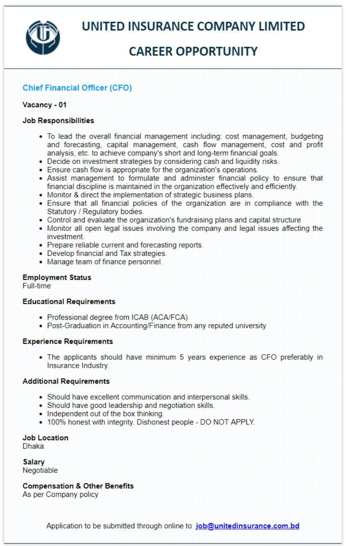 United Insurance Company Ltd Job Circular Apply Unitedinsurance