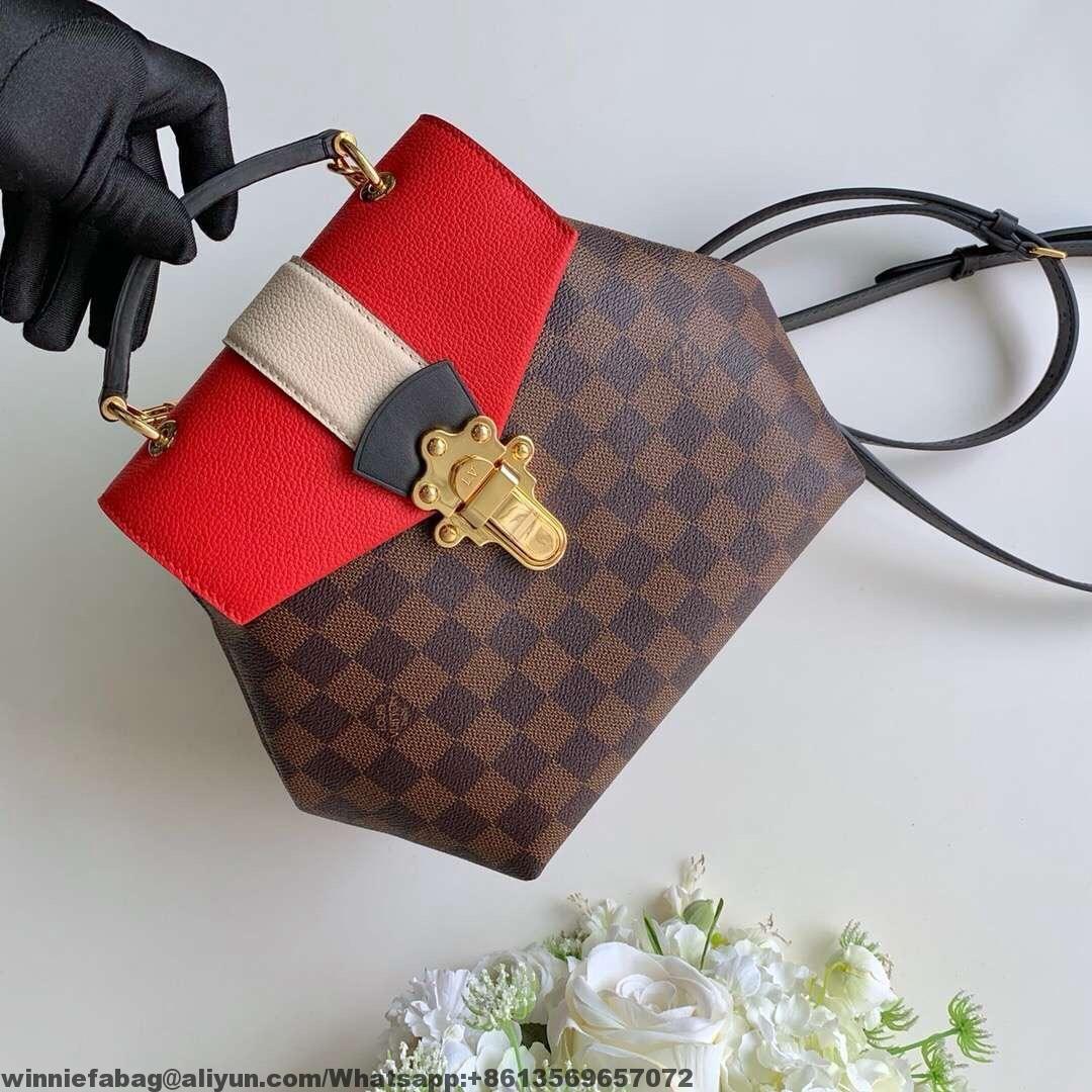 047e993f0c9d Louis Vuitton Damier Ebene Canvas Clapton Backpack N40104 Scarlet ...