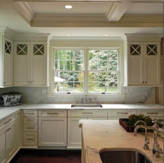 Transitional Kitchen With Wood Mode Cabinetry