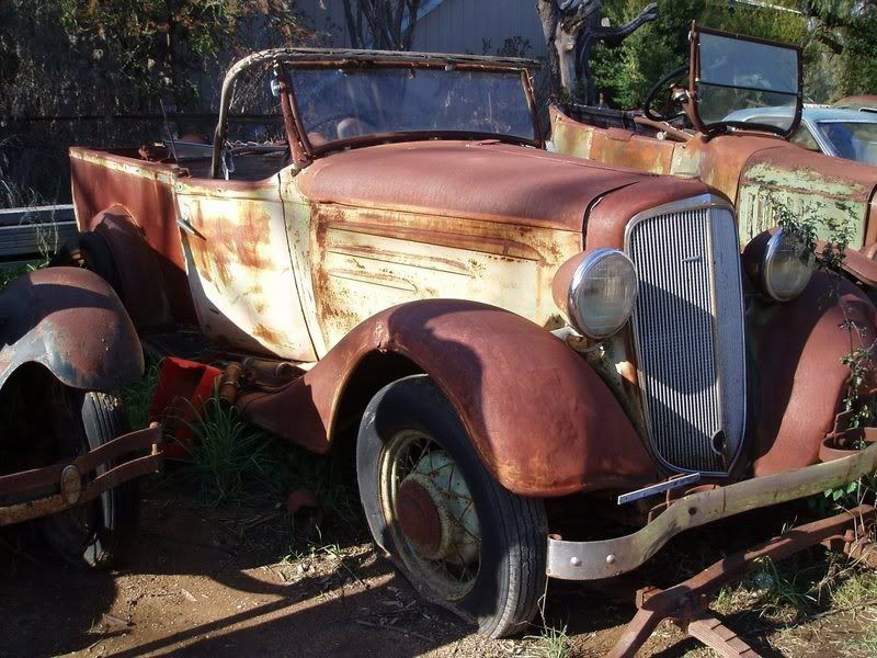 Unrestored 1934-35 Chev Roadster Ute . Will eventually be for sale ...