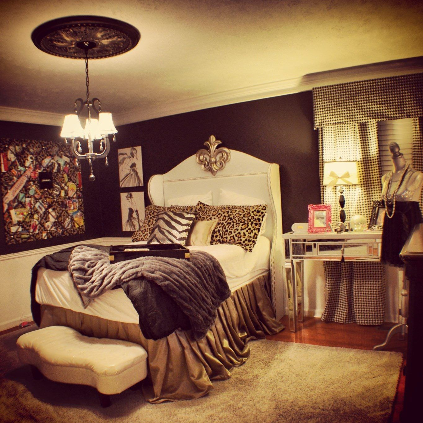 Cheetah print bedroom decor - https://bedroom-design-2017.info/style ...