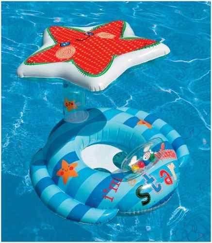 Doble Asiento, para beb/é de 6 a 36 Meses WENTS Flotador de nataci/ón para Madre y beb/é Piscina Hinchable retr/áctil y extra/íble Flotador de Piscina para beb/é Asiento Flotante para beb/é de Seguridad
