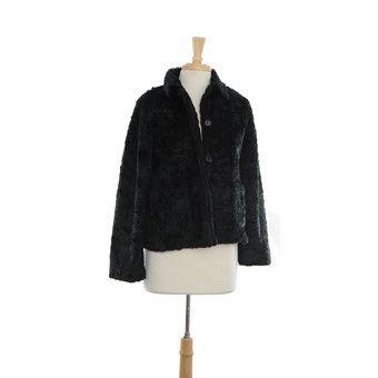 Black Fur Button Up Coat Size: S $50.00 stacksonracks.com