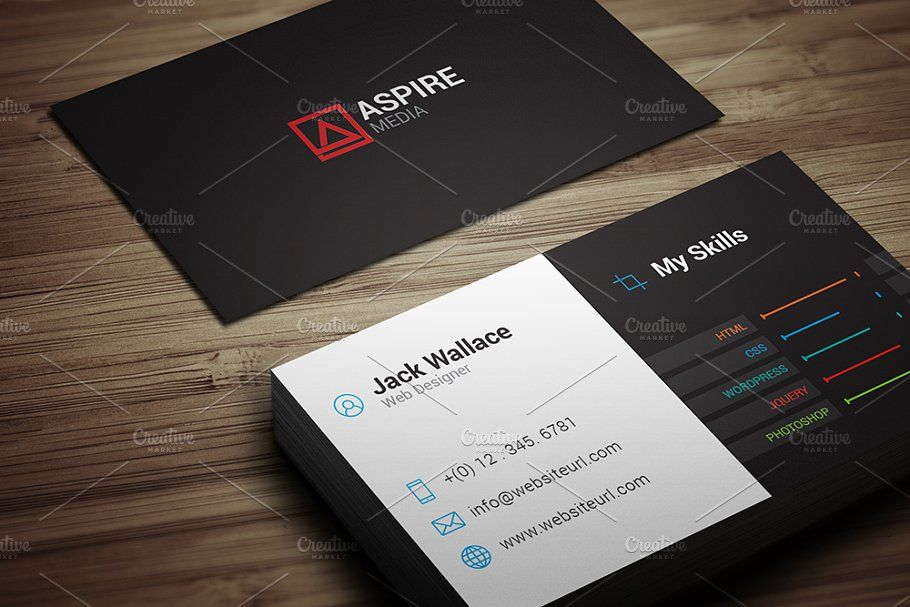 Skills Business Card Freelancer Cleaning Business Cards Business Card Template Skills
