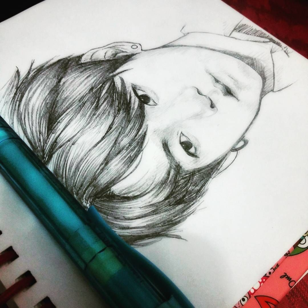 i don't rmb the last time i drew an actual person ( i was trying to do #jungkook ) #doodle #sketch #bts #illust #lexyproblems