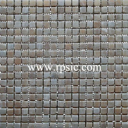 Honey Onyx Mosaic 5/8x5/8 Tumbled MST-23
