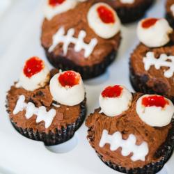 Cupcakes met monsterogen